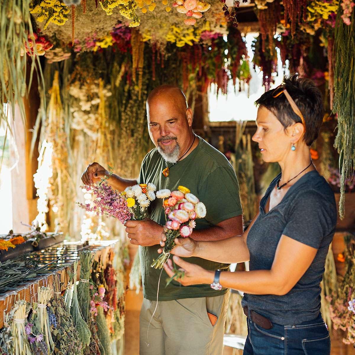 Botanical art created by owners of Calendula Farm & Earthworks