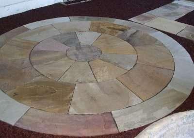 Creative circular patio design