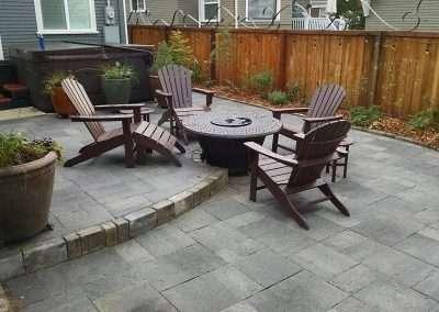 Modern gray paver patio