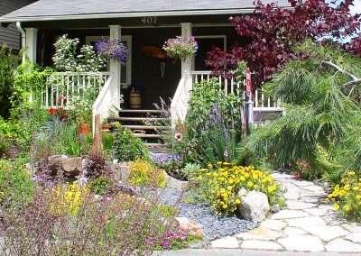 Front yard flower landscape