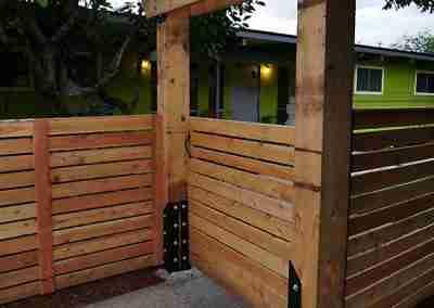 Modern wood fence designer
