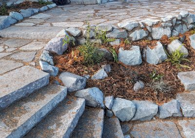 Flagstone stairs and patio