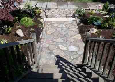 Flagstone front walkway