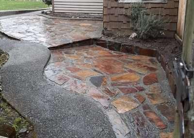 Stone patio and path design Tacoma, WA