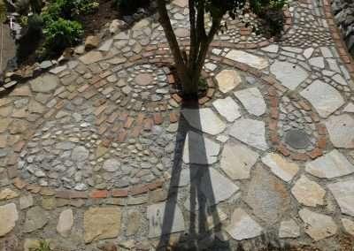 Artistic stone path design