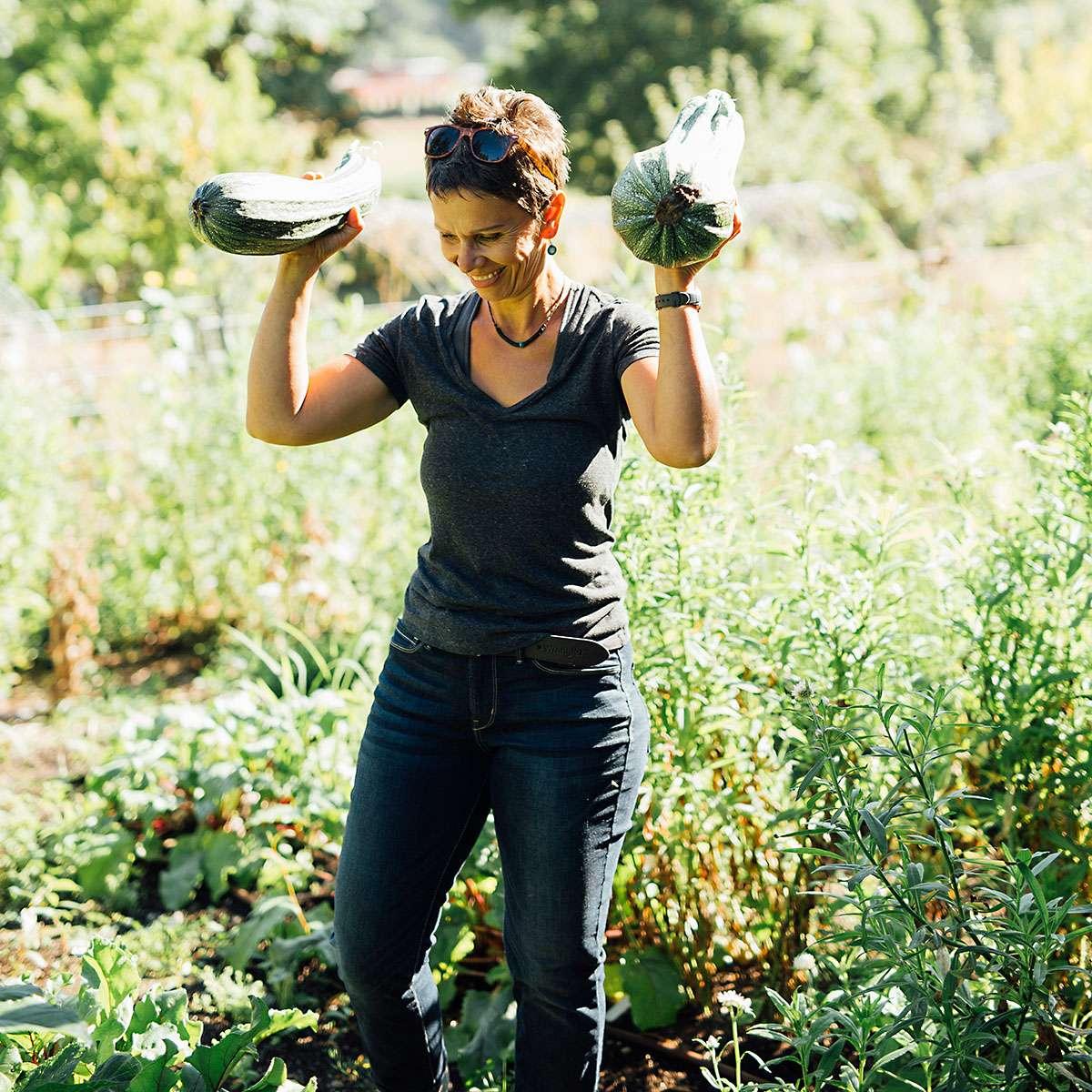 Squash harvested at Calendula Farm & Earthworks Tacoma, WA