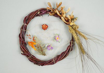 Dried flower dreamcatcher wreath