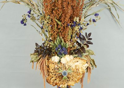Tabletop dried flower and plant sculpture