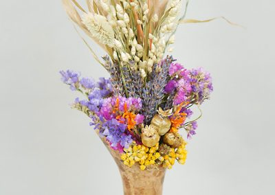 Tabletop gourd vase with dried flowers