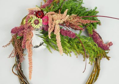 Colorful forest wreath