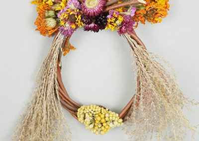 Unique fall wreath